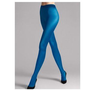 Wolford Tights Satin de Luxe Electric Blue size M
